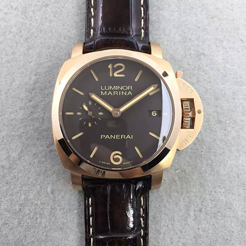 3A沛納海 Panerai Luminor Marina小手系列pam393 搭載天津和上海P.9000自動機芯 意大利進口真牛皮皮帶